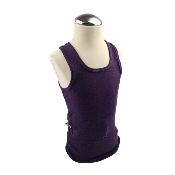tanktop purple, pocket on the right side