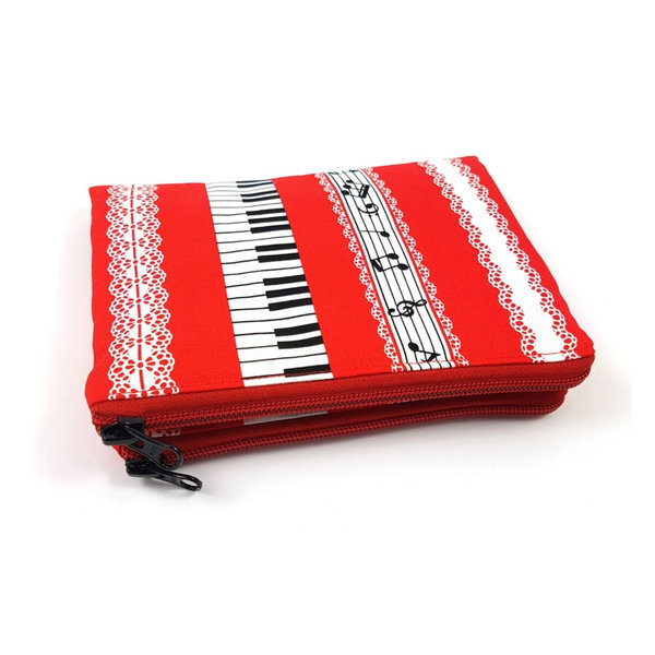 accessory pouch music, red
