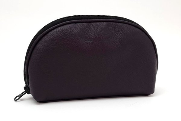accessory pouch leather, purple