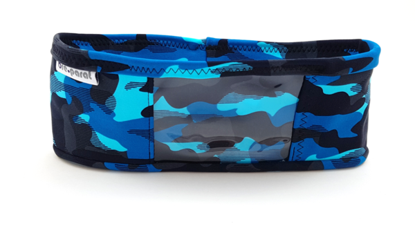 pump waist band lycra camouflage, blue